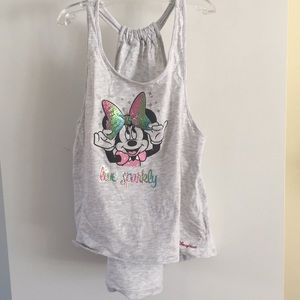 Disney Minnie Mouse sparkle bow tank world xl